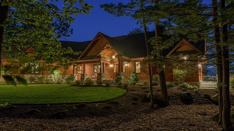 Front of Home at Night